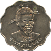 20 Cents - Sobhuza II (FAO) – obverse