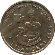 1 Lilangeni - Sobhuza II (International Women's Year) – reverse