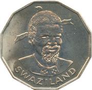50 Cents - Sobhuza II -  obverse