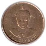 1 Cent - Mswati III (1st portrait) – obverse
