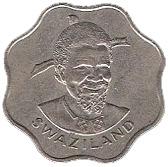 10 Cents - Sobhuza II – obverse