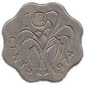 10 Cents - Sobhuza II – reverse