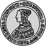 ½ Dalderi - Christina – obverse