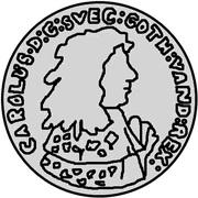 ¼ Dalderi - Carl XI – obverse