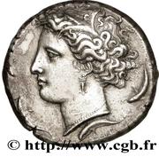 Decadrachm - Dionysius I – obverse