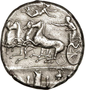 Decadrachm - Dionysius I – reverse