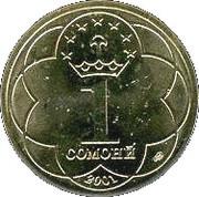 1 Somoni – reverse
