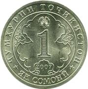 1 Somoni (Jaloliddini Rumi) – reverse