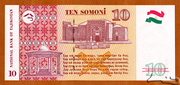 10 Somoni – reverse