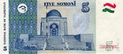 5 Somoni – reverse