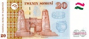 20 Somoni – reverse