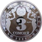 3 Somoni (Anniversary of Kulob) – obverse