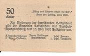 50 Heller (Taiskirchen) -  reverse