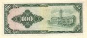 100 New Dollars (multicoloured background) – reverse