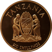 100 Shillings (Canonization) – obverse