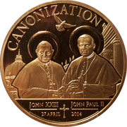 100 Shillings (Canonization) – reverse
