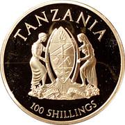 100 Shillings (In Memoriam 0f Princess Diana) – obverse