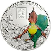 100 Shillings (Lady's Slipper Orchid) – reverse