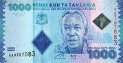 1,000 Shilingi / Shillings – obverse