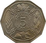 5 Shilingi (Independence) – reverse