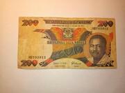 200 Shillings / 200 Shilingi – obverse
