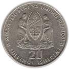 20 Shilingi (Independence) – reverse