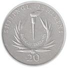 20 Shilingi (Central Bank) – reverse