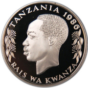 100 Shilingi (Conservation; Silver Proof Issue) – obverse