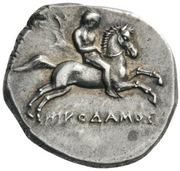 Stater - Nikodamos, Eu... and Xor... – obverse