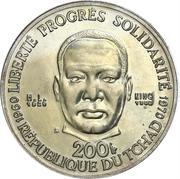 200 Francs (Martin Luther King Jr.) – reverse