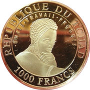 1000 Francs  (Valley of Statues) – obverse