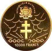 10 000 Francs (Independence) – reverse