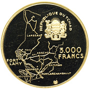 3000 Francs (Independence) – obverse