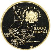 3000 Francs (Independence) – obverse