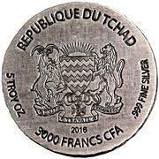 3000 Francs (King Tut) – obverse