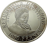 1000 Francs  (Chichen Itza) – obverse