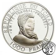 1000 Francs  (Okapia Johnstoni) – obverse