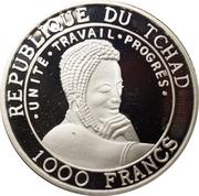 1000 Francs (Multicolor orang-outan) – obverse