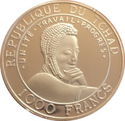 1000 Francs  (FIFA World Cup, France) – obverse
