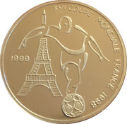 1000 Francs  (FIFA World Cup, France) – reverse