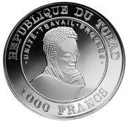1000 Francs (FIFA World Cup France 1998) – obverse