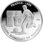 1000 Francs (FIFA World Cup France 1998) – reverse