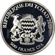 500 Francs CFA (Fox) – obverse