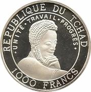 1000 Francs (Arabic Warship) – obverse
