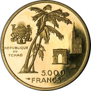 5000 Francs (Independence) – reverse