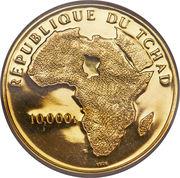 10 000 Francs – obverse