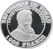 1000 Francs (FIFA World Cup Argentina 1978) -  obverse