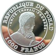 1000 Francs (Hippopotame) – obverse