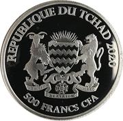 500 Francs CFA (Horse) – obverse