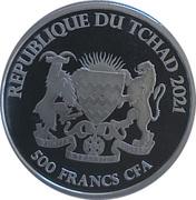 500 Francs CFA (Salmon) – obverse